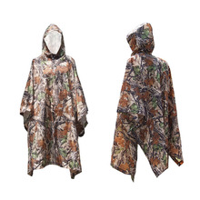 New 3in1 Outdoor Military Travel Camouflage Raincoat Poncho Backpack Rain Cover Waterproof Tent Mat Awning Hunting Camping Hike(China)
