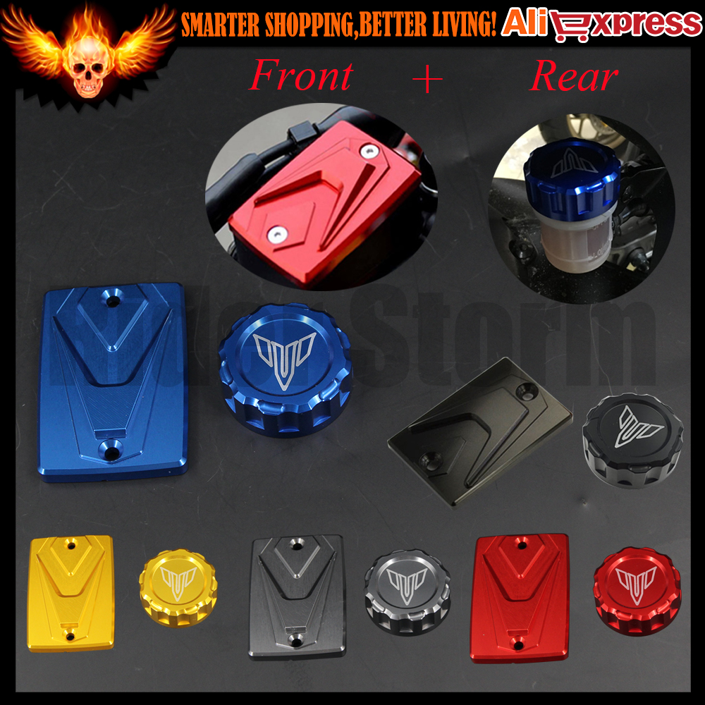 Motorcycle CNC Front  Rear Brake Reservoir Cover Oil Reservoir Fluid Cap For Yamaha MT-07 MT-09 Tracer FJ-07 FJ-09 FZ-07 Z-09<br><br>Aliexpress
