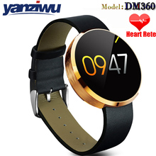 Bluetooth Smartwatches DM360 with Heart rate monitor bluetooth Wristwatch Smart watch for Apple IOS and Andriod Mobile Phone(China)