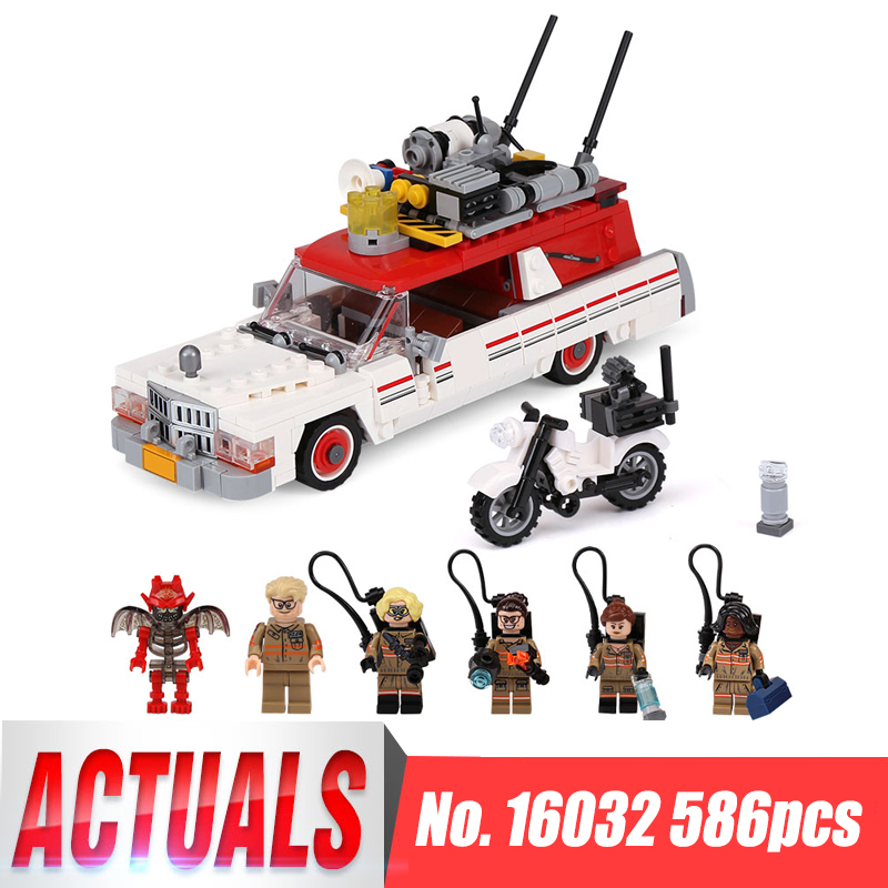 Lepin 16032 586Pcs New Genuine Movie Series The Ghostbusters Ecto-1&amp;2 Set Children Educational Building Blocks Bricks Toys 75828<br>