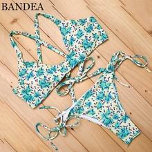 BANDEA Bikini 2018 New green print bikini swimsuit brazilian pokemon swimsuit bathing suit women