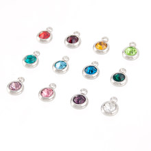 DIY Charm Pendant 6mm Birth Stones for Bracelets Necklace Mini Crystal  Color Personalized Fashion Jewelry Wholesale (12 5) 60pcs 05473f216638