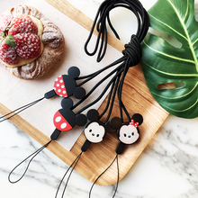 Mr.orange Mobile Phone Lanyard Fashion Cartoon Mickey Key Lanyard Mobile Keychains Neck Straps Anti-theft Mobile Phone Chain