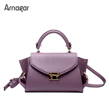 Arnagar genuine leather bags luxury handbags women designer trapeze messenger lady shoulder - Official Store store