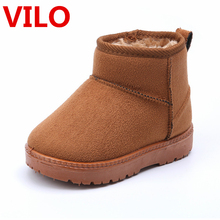Winter Warm Child Boy Gilr Snow Boots Shoes Plush Thicker Sole Girls Snow Boots Shoes Size 22-33 Baby Toddler Shoes