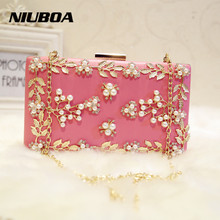 Luxury Crystal Clutch Evening Bag White Rose Flower Party Purse Women Wedding Bridal Phone Handbag Pouch Soiree Pochette
