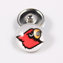 Louisville Cardinals 18mm Snap Button Fit Ginger Snap Bracelet Bangles NCAA Football Baseball Series Jewelry 10PCS
