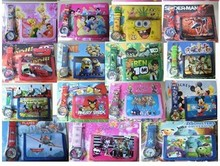 Free shipping DHL hello kitty Despicable Me ben 10 kids watch and wallet purse wrist quartz Girls Cartoon watches100pcs