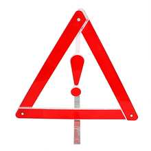 Traffic Warning Car-styling Portable Stop Sign Warning Triangles Safety Reflective Folding Car Emergency Tripod