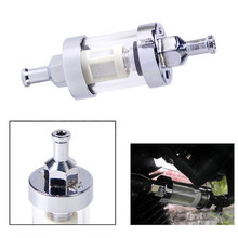 New 5/16'' 8mm Universal Chrome Finish Petrol In-line Fuel Filter Simple To Install Clean(China)