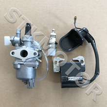 2 Stroke Carburetor With Ignition Coil Spark Plug 47cc 49cc Mini Quad Pit Dirt Super Pocket Bike ATV Parts