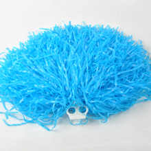 50g Plastic PE Flash Cheerleading Pompom Cheerleader Supplies For Sports Match pom Pom Red Blue Green White Black Yellow Purple