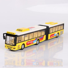 Interesting children's intelligence toys, automotive alloy die casting, extended version, bus model, children's toy car