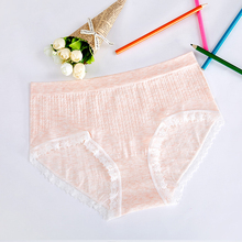 Buy Sexy Lace Panties Women Fashion Cozy Lingerie Tempting Pretty Briefs High Quality Cotton Mid-Rise Waist Cute Women Underwear