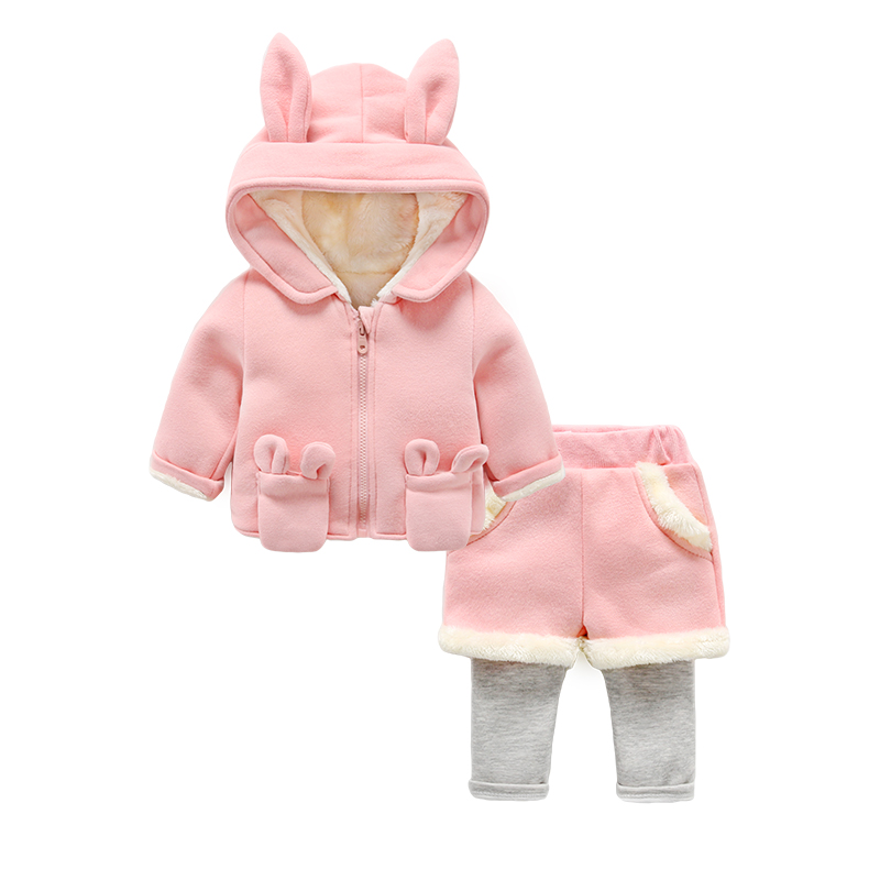 baby sets infant hooded coat and pants long sleeve autumn winter<br>