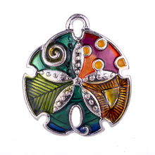FIN15035 Fashion DIY 2.3*2.1cm Alloy Charms&Pendant For Necklace Bracelet Jewelry Findings Silver Plated Unique Ocean Design(China)