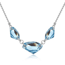 100% Original Crystal from Swarovski  Rhodium plated  Necklace&Pendant Bijoux For Women Concise geometrical fashion accessories