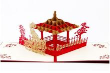 Custom Red Valentines Day Gift For Men & Women Handmade 3D POP Up Greeting Cards Free Shipping(China)