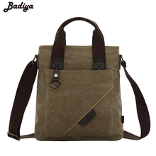Vintage Men Shoulder Bag Functional Small Flap Casual Notebook Bag Phone Pouch Briefcase Case Male Bag of Canvas Messenger Bag