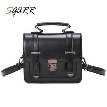 SGARR Famous Brand Vintage Leather Women Shoulder Bag Solid Brown Wine Red Green Female School Girls Pu Crossbody Messenger Bags(China)