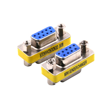 Newest 100pcs/lot Newest DB9 serial port adapter connector conversion head VGA 9 hole on the connector RS232(China)