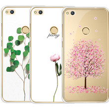 New style Most popular Green plant pattern Anti falling mobile phone shell for For Huawei P8 P8 Lite P9 P9 lite luxury silicone