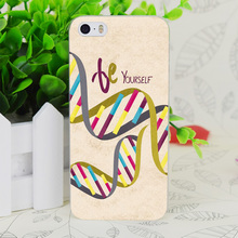 C2801 Be Yourself Dna Cool Transparent Hard Thin Case Skin Cover For Apple IPhone 4 4S 4G 5 5G 5S SE 5C 6 6S Plus