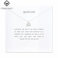 Sparkling good lucky elephant Pendant necklace Clavicle Chains Statement Necklace Women FOMALHAUT Jewelry F-01(China)