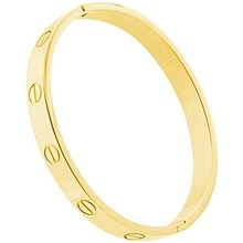 Solid Gold Filled Cuff Bracelet Hinged Bangle for Women Oval Bracelet Wrists(China)