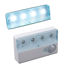 Portable LED Infrared PIR Auto Sensor Motion Detector Light Lamp Dual-window Infrared Sensors Night Light(China)