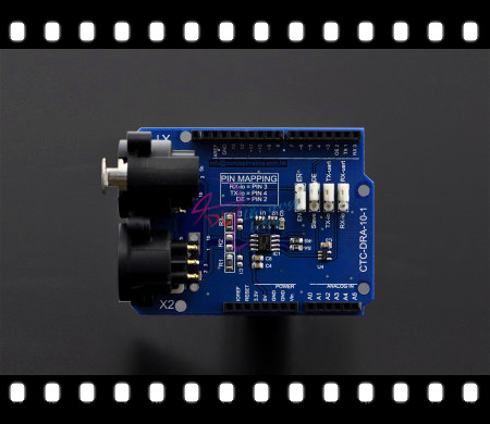 100% Genuine DMX Shield /Expansion board module Compatible with Arduino 1.0 for DMX-Master device / artwork into DMX512 networks<br><br>Aliexpress
