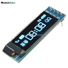 "0.91 inch 128x32 I2C IIC Serial Blue OLED LCD Display Module 0.91"" 12832 SSD1306 LCD Screen for Arduino"
