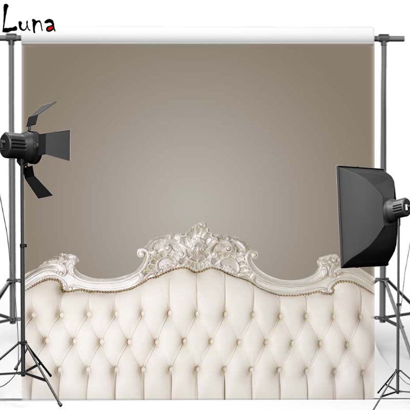 Luxury Baroque bed headboard tufted Vinyl Photography Background For Wedding Oxford Backdrops Photo Studio F2523<br><br>Aliexpress