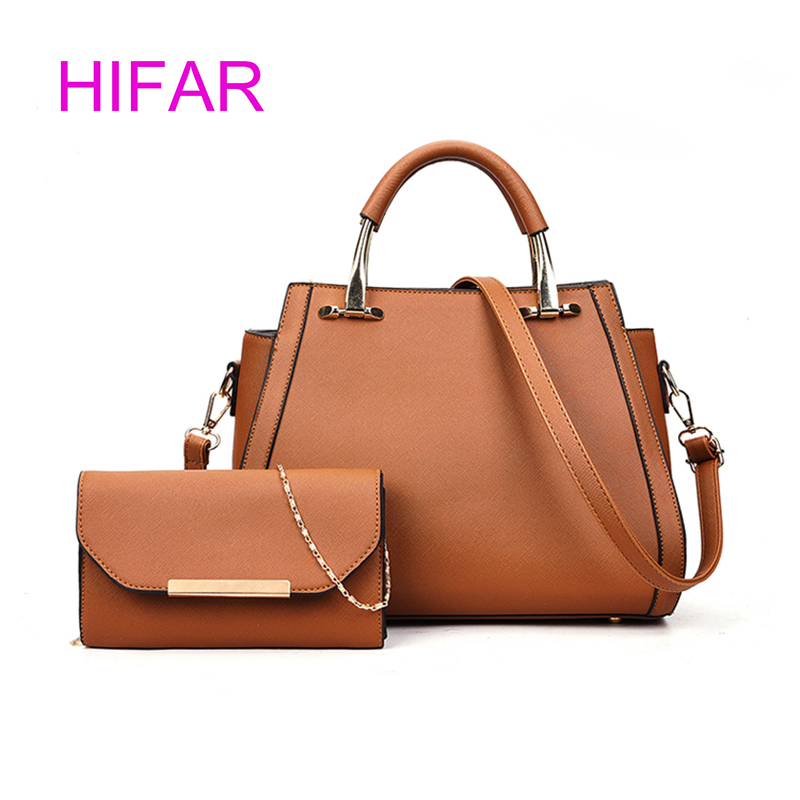 2 Sets Casual Tote Bags Luxury Metal Handbags Women Composite Bags Large Capacity Bag High Quality PU Leather Shoulder Crossbody<br>