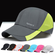 Fashion Cotton Breathable Mesh Baseball Cap Male Sport Hats Summer Cool Visor Factory Direct Outdoo Caps Hat RC1019(China)