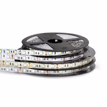 5M LED Strip Light 2835 5050 RGB Led Strip Ribbon Waterproof DC 12V 60leds/m Fliexible RGB LED Tape Light For Home Decoration