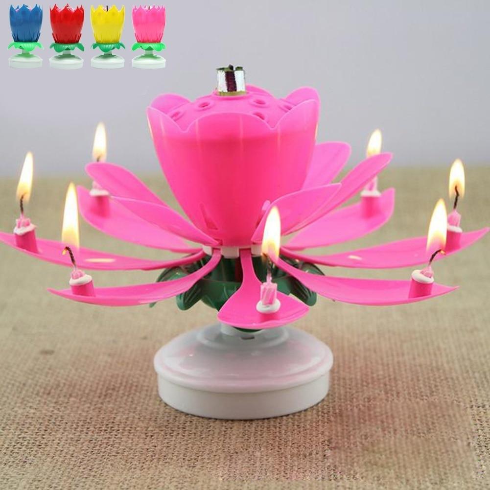 Lotus candle wedding