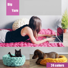 Hand Crochet Coarse Yarn Thick Big Yarn Thick Knitting DIY Super Big Knit Woolen Yarn 250g/lot For Hat Scarf Blanket(China)