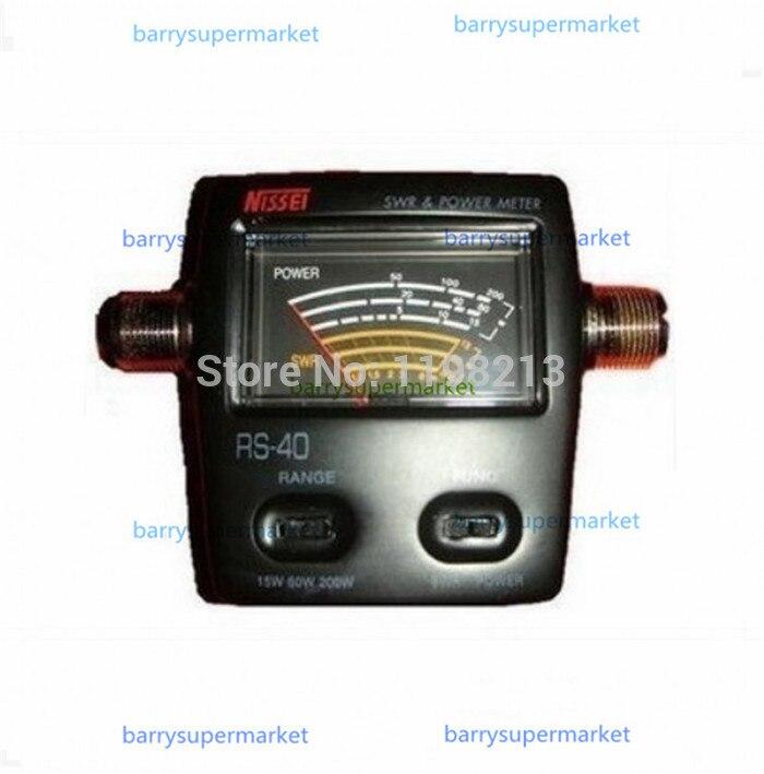 Brand New Black NISSEI 144/430MHz 0-200W MJ-MJ Connector RS-40 SWR &amp; Power Meter J2027F Alishow<br><br>Aliexpress