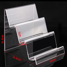 Clear acrylic cellphone stand wallet holder jewelry display with nice design good quality wholesale price factory online store