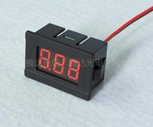 Hot sale 1Pc 0.36inch 2 Wire Red DC4.5-30V LED Panel digital display Voltage Meter Voltmeter 34mm*23mm*17mm