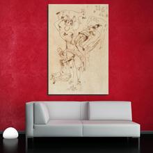 Marc Chagall Sketch woman naked Figure Painting Abstract Frameless Canvas Oil Painting Unframed Spray drawing straw hologram