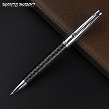 high quality MONTE MOUNT Black fiber Business pen  black  Refill Ballpoint Pen Office Stationery Fine metal Ballpoint Pen