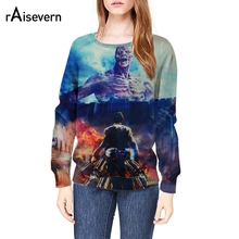 Raisevern New Autumn Hoodies Harajuku 3D Sweatshirt Attact Titan Live Action Print Casual Pullover Tops S-XL - RAISEVERN Official Store store