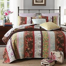FADFAY Home Textile 100% Cotton Colorful Floral Bed Bedding Sets Luxury Lightweight Comforter Set Vintage Quilts Queen Size(China)