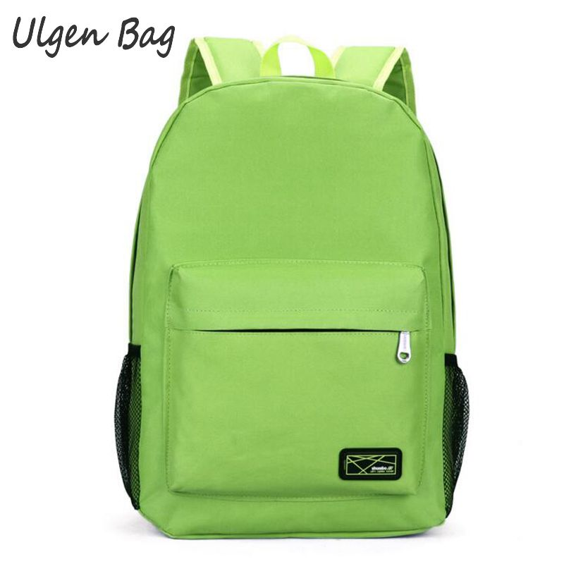 Fashion Mens backpack school bags for teenagers solid color backpacks for boys girls casual travel backpacks women<br><br>Aliexpress