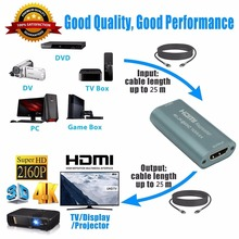 4K@60Hz 50M HDMI Extender HDMI 2.0 Splitter Repeater Amplifier Booster Adapter HD 1080P@60Hz Support HDCP 2.2 EDID Bandwidth(China)