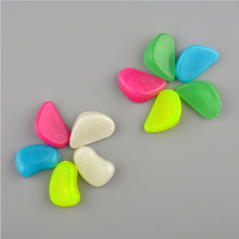 100pcs/bag Luminous Pebbles Stones Glow In The Dark Garden Ornaments Wedding Decoration Home Crafts Party Event Supplies