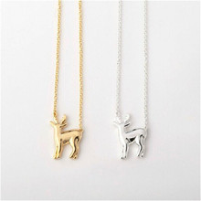 10pcs_New Fashion Cute Deer Necklace  Woodland Reindeer Necklaces lovely Fawn necklace  Animal Jewelry