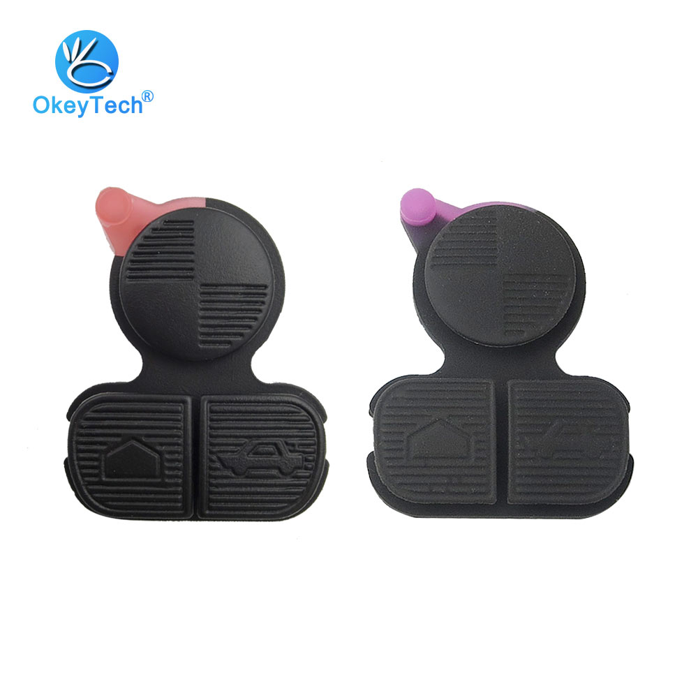 OkeyTech for BMW Series 3 5 7 E38 E39 E36 Z3 Z4 Z8 X3 X5 Rubber Key Pad Car Key Shell Cover Case Fob Repair 3 Button Pad for BMW